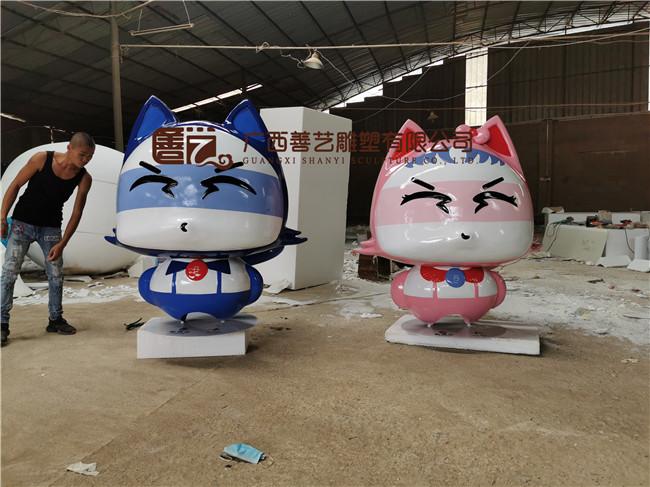 南宁金湖地铁站卡通雕塑