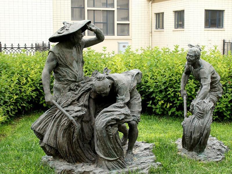 主题农耕雕塑