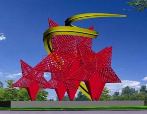 红色主题雕塑
